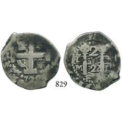 Lima, Peru, cob 2 reales, 1722M.