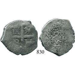 Lima, Peru, cob 2 reales, 1736(N).