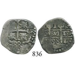 Lima, Peru, cob 1 real, 1688R.