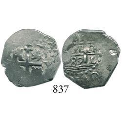 Lima, Peru, cob 1 real, 1689V.