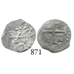 Lima, Peru, cob 1/2 real, 1717.