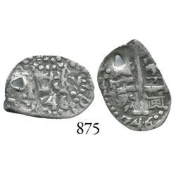 Lima, Peru, cob 1/2 real, 1746V.
