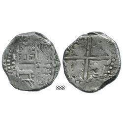 Potosí, Bolivia, cob 8 reales, Philip IV, P•P (1620s), scarce.