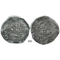 Potosí, Bolivia, cob 8 reales, (16)45T, rare.