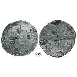 Potosí, Bolivia, cob 4 reales, Philip II, P-A.
