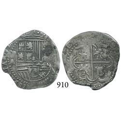 Potosí, Bolivia, cob 2 reales, Philip II, P-A.