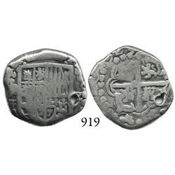 Potosí, Bolivia, cob 2 reales, (1)629T, rare.