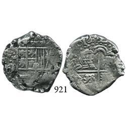 Potosí, Bolivia, cob 2 reales, 1632T, rare.