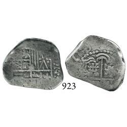 Potosí, Bolivia, cob 2 reales, 163(?), assayer not visible.