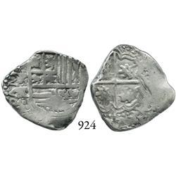 Potosí, Bolivia, cob 2 reales, Philip IV, P-TR.
