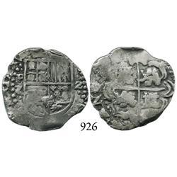 Potosí, Bolivia, cob 2 reales, Philip IV, P-Z, scarce.