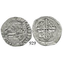 Potosí, Bolivia, cob 1 real, Philip II, P-B (2nd period).