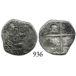 Potosí, Bolivia, cob 1 real, Philip III, P-Q/R, scarce.