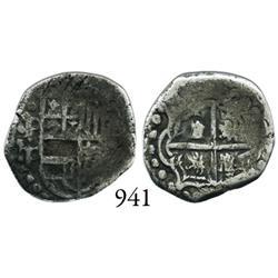 Potosí, Bolivia, cob 1 real, Philip IV, P-T/P (ca. 1629).