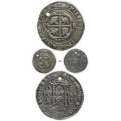Potosí, Bolivia, cob 8 reales Royal, 1657E.