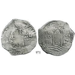 Potosí, Bolivia, cob 8 reales, 1660E.