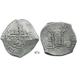 Potosí, Bolivia, cob 8 reales, 1664E.