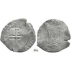 Potosí, Bolivia, cob 8 reales, 1683V.