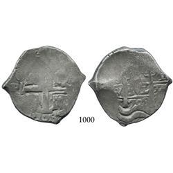 Potosí, Bolivia, cob 8 reales, 1708Y.