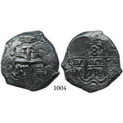 Potosí, Bolivia, cob 8 reales, 1738M.