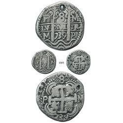 Potosí, Bolivia, cob 8 reales Royal, 1739M.