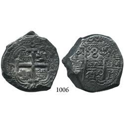 Potosí, Bolivia, cob 8 reales, 1740M.