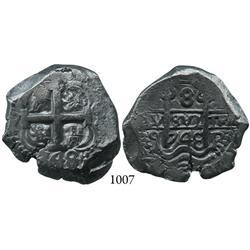 Potosí, Bolivia, cob 8 reales, 1748q.
