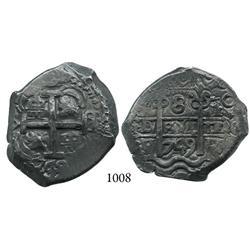 Potosí, Bolivia, cob 8 reales, 1749q.