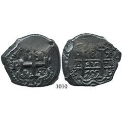 Potosí, Bolivia, cob 8 reales, 1752q.