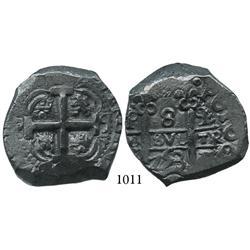 Potosí, Bolivia, cob 8 reales, 1753q.