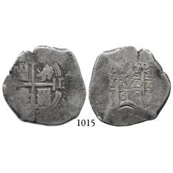 Potosí, Bolivia, cob 4 reales, 1659E.