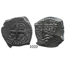 Potosí, Bolivia, cob 4 reales, 1748q.