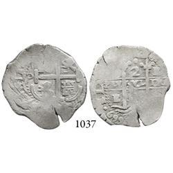 Potosí, Bolivia, cob 2 reales, 1669E, scarce.