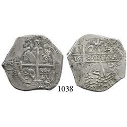 Potosí, Bolivia, cob 2 reales, 1670E, scarce.