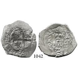 Potosí, Bolivia, cob 2 reales, 1675E.