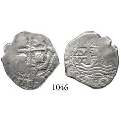 Potosí, Bolivia, cob 2 reales, 1679V.