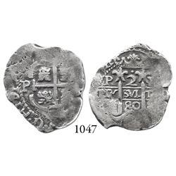 Potosí, Bolivia, cob 2 reales, 1680V.