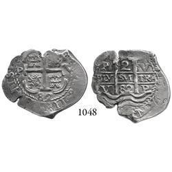 Potosí, Bolivia, cob 2 reales, 1682V, finest known.