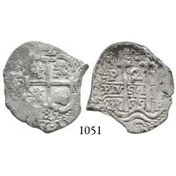 Potosí, Bolivia, cob 2 reales, 1685VR.