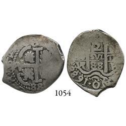 Potosí, Bolivia, cob 2 reales, 1688VR.