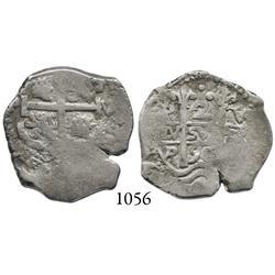 Potosí, Bolivia, cob 2 reales, 1690VR.