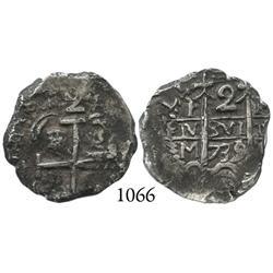 Potosí, Bolivia, cob 2 reales, 1739M.