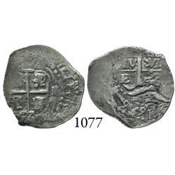 Potosí, Bolivia, cob 1 real, 1656E.