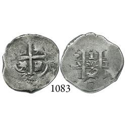 Potosí, Bolivia, cob 1 real, 1662E.