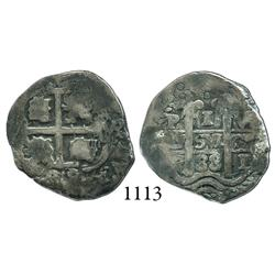 Potosí, Bolivia, cob 1 real, 1688VR.