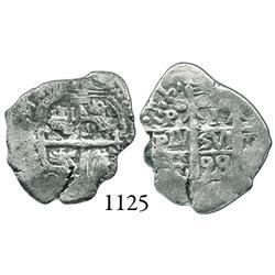Potosí, Bolivia, cob 1 real, 1698F.