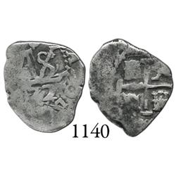 Potosí, Bolivia, cob 1/2 real, 1672.