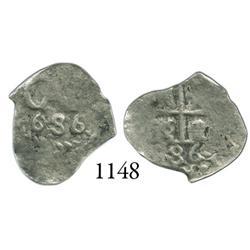 Potosí, Bolivia, cob 1/2 real, 1686.