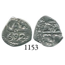 Potosí, Bolivia, cob 1/2 real, 1692.