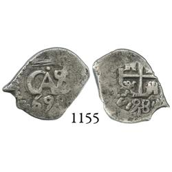 Potosí, Bolivia, cob 1/2 real, 1698.